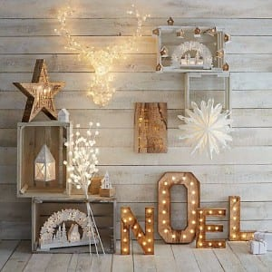 Rustic style Christmas LEDs