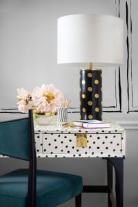 Black and white spots on trend for interiors