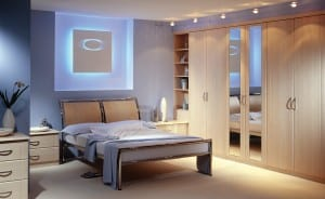 fitted contemporary bedroom set