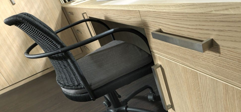 Palma range in an aragon oak finish; office desk