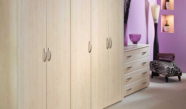 Sorrento range in a birch finish; wardrobe run and drawer chest