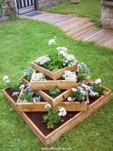 pallets of flowers
