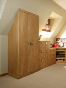 Fitted wardrobe in the eves
