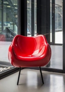 Industrial styling - red chair