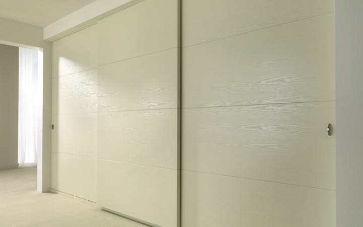 cream sliding doors