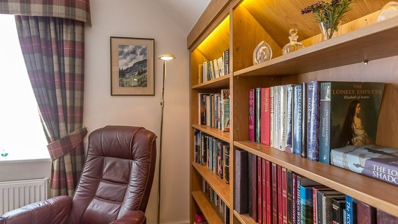 fitted home library