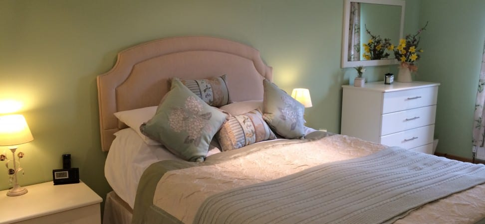pale green fitted bedroom