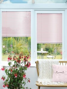 pink conseravtory blinds