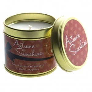 Autumn sunshine candle from Kiss Air