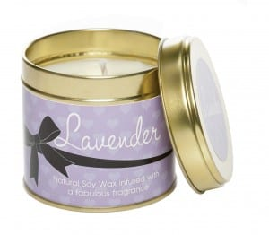 Lavender candle from Kiss Air