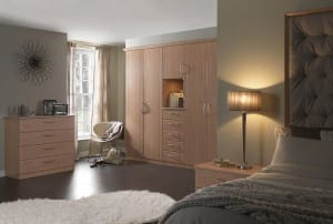 beech fitted bedroom