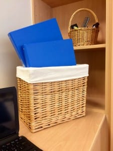 Baskets with file storage