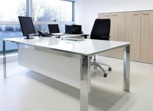 Calibre glass office desk