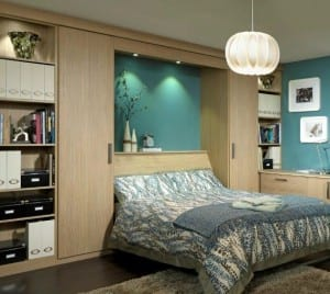 Office bedroom furniture with shelving
