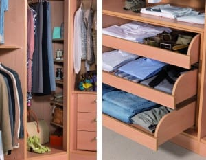 Store your clothes away neatly with bespoke fitted bedroom furniture