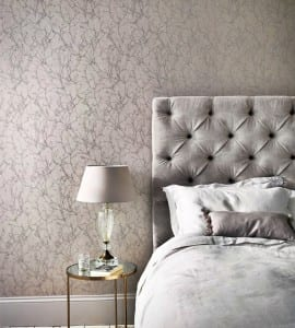 Anna Morgan grey bedroom