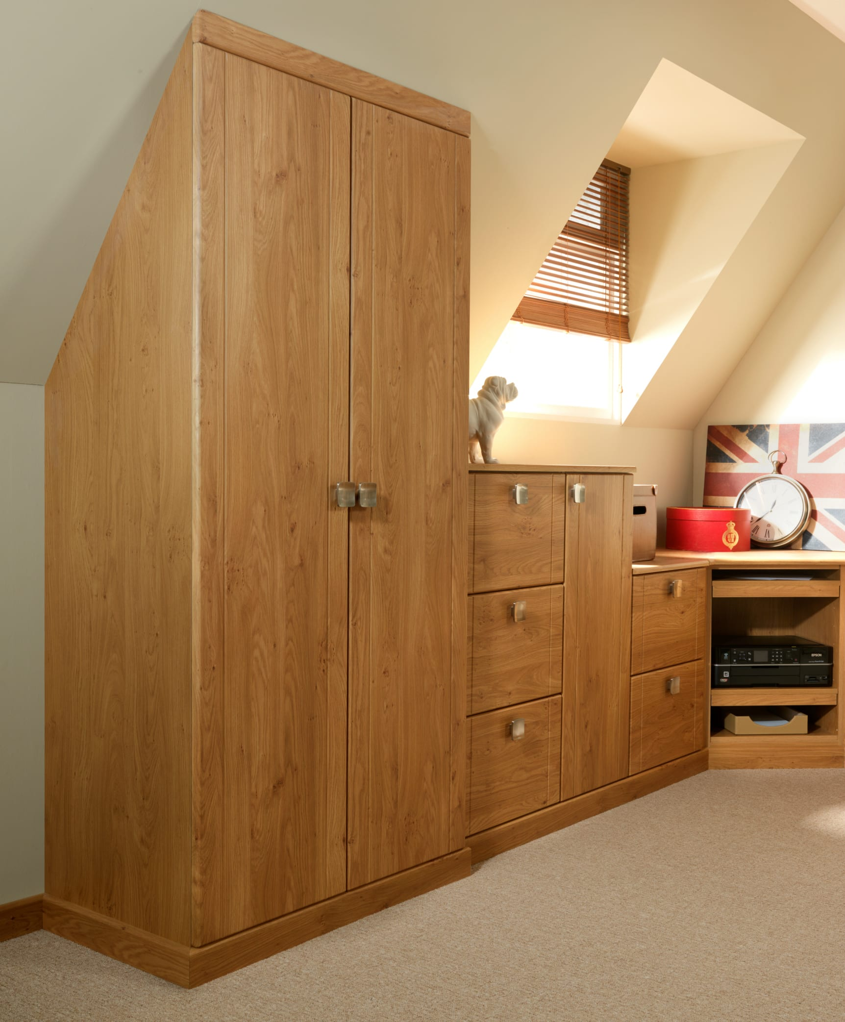 clawing back bedrooms ceiling your sloping wardrobe space against working architectural fitted hartleys oak homes with features office