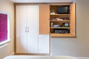 Fitted wardrobe and storage solution