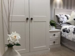 Beautiful, tranquil colour scheme for a bedroom