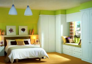 Summer colours in this Lincoln fitted bedroom