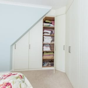 Fitted wardrobes in alcoves and eaves