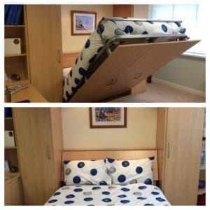 Fold away bed