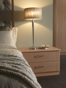 Beech bedside table