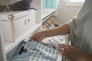 Tidy away clean clothes in bespoke furniture