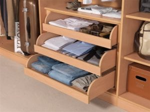 Storage solutions - wardrobe with internal drawers and shelving