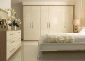 Creating space around bedroom furniture