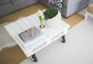 White upcycled table
