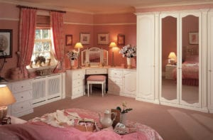 pink 1980s fitted bedroom