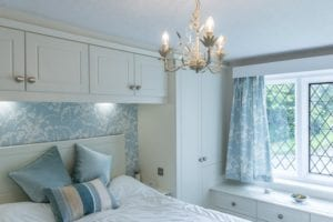 Natural light in a white fitted bedroom
