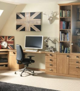 oak fitted office