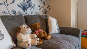 Children's bedroom accessories - teddies on sofa