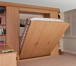 Save space with a built-in foldaway bed