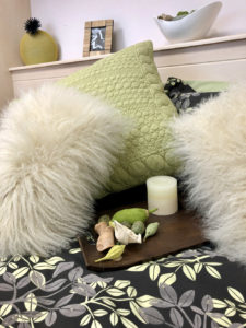 Cosy faux fur pillows