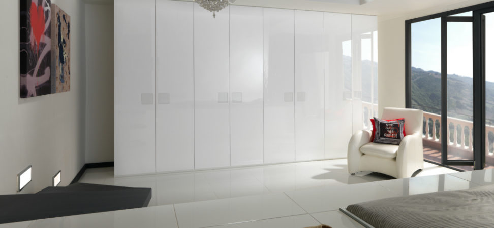 contemporary white gloss wardrobes