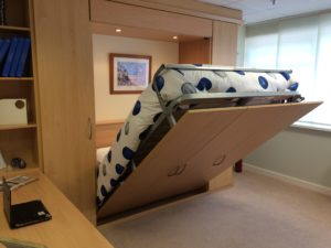 Foldaway bed creates space when you need it