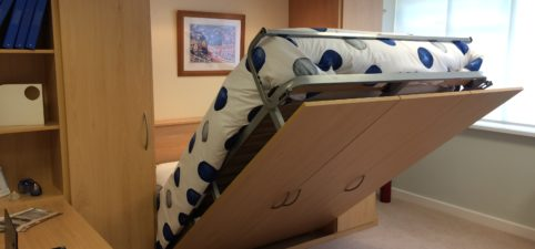 foldaway bed in action