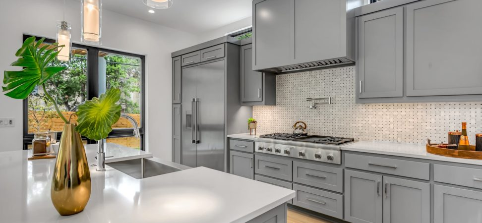 grey painted kitchen