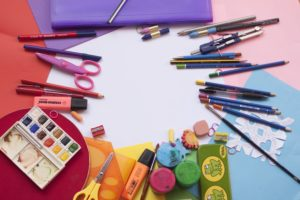 Home schooling - art supplies