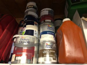 Tidy away old paint pots
