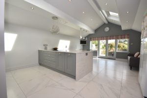 Kate Bailey designed open plan kitchen