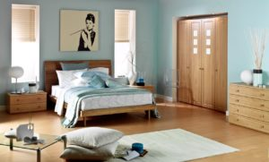 Feng Shui bed positioning in a calming bedroom