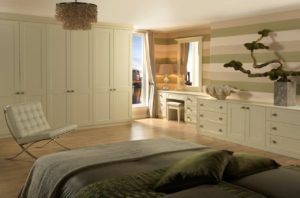 Shaker master bedroom with fitted storage