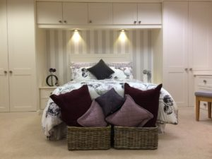 Simple shaker bedroom with Choice storage baskets
