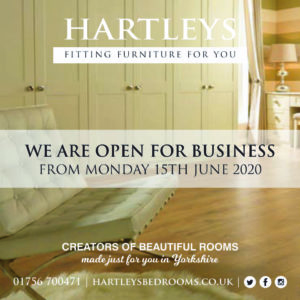 Hartleys Bedrooms - Open For Business Post Covid-19