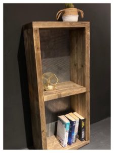 Reclaimed book case