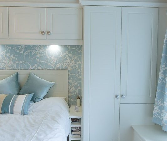 white fitted bedroom